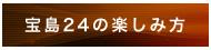 宝島24の楽しみ方